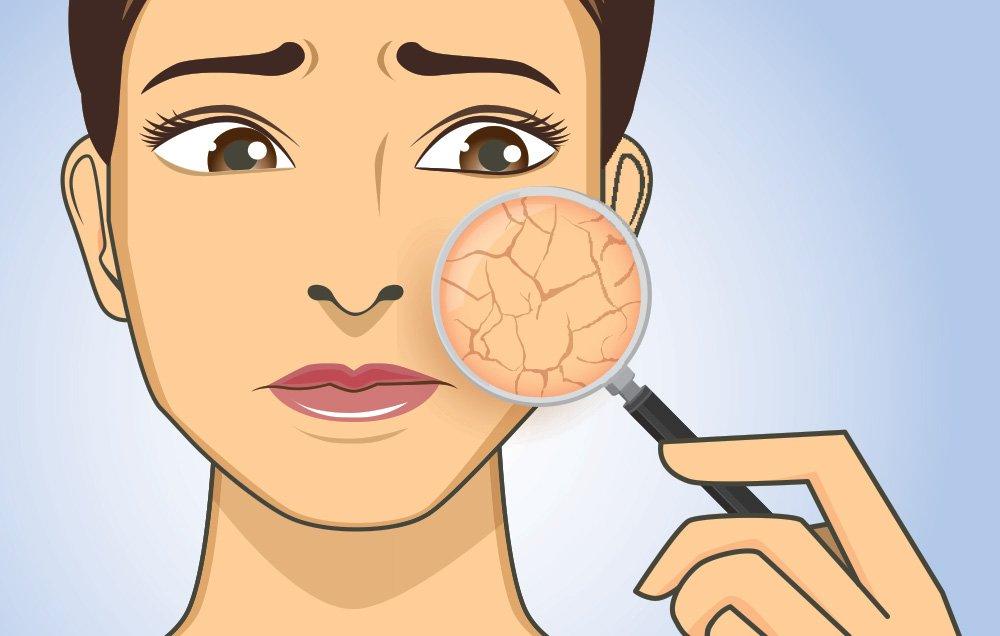 درمان کم آبی پوست