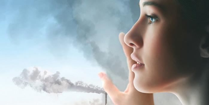 مراقبت از پوست هوای آلوده